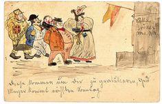 illustrations de wilhelm busch | Wilhelm Busch Geburtshaus - Wenn wir die Freunde kommen sehn