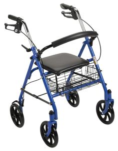 Drive Medical Walker Rollator with Fold Up Removable Back Support - Blue - prohealthcareproducts.com