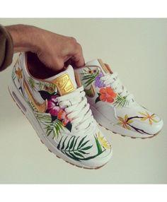 Nike Air Max 90 Golden Floral Dames Loopschoenen Koop Online