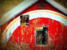 Rainbow Barn by Rural Rose, via Flickr