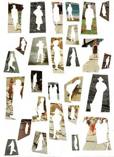 13th January - 17th January I love these images.  Thinking about how my image will have depth or questioning what it would look like. This collage definitely gave me thoughts of taking the initial away and allowing a silhouette with what have done on the previous pin.