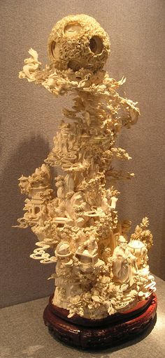 CHINESE IVORY CARVING | Carved ivory statue in Guangzhou, China. (Wikipedia Commons)