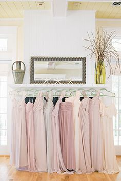 I like the idea of a neutral palette of blush, dusty rose, beige, etc for the bridesmaids dresses (staci)