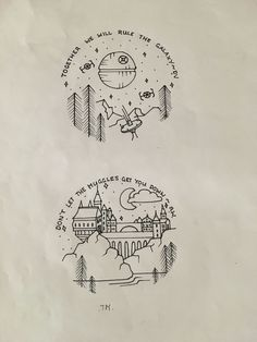 Harry Potter and Star Wars circle drawing art Brittany Johnson Drawing Tips how to draw a star Harry Potter Kunst, Harry Potter Sketch, Harry Potter Drawings Easy, Harry Potter Tattoos, Star Wars Drawings, Easy Drawings, Drawing Tips, Drawing Art, Drawing Ideas