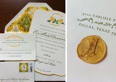 1st anniversary party invitation | Paradise Design Co.