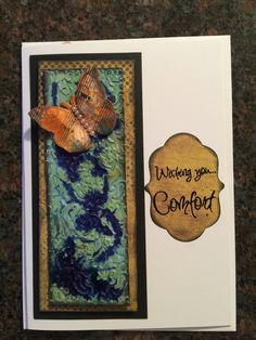Sympathy card using foil tape and alcohol inks