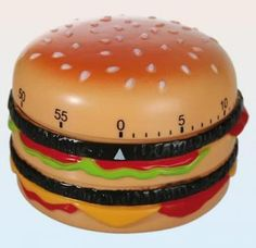 Markenlos Hamburger Kitchen Timer Almost Food Clock To 60min. Timer Short Term Alarm 4029811335763
