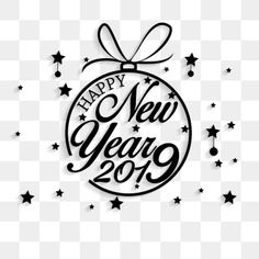 Happy new year for 2019 PNG and Vector Happy New Year Stickers, Happy New Year 2019, Fireworks, Photoshop, Holidays, Wallpaper, Illustration, Handmade, Poster