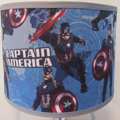 Marvel captain america lamp shade by geekyourinterest on etsy captain america fabric lamp shade aloadofball Gallery