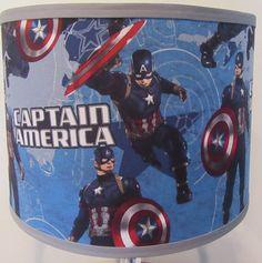 Captain America Fabric Lamp Shade