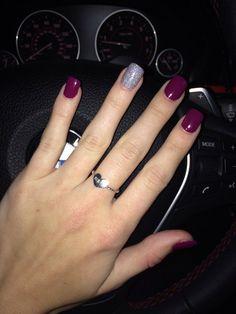Purple nails #nailart #naildesign