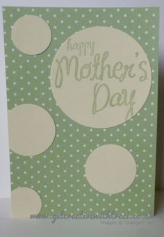Stampin' Up! Circle Punch Mother's Day Card using the My Mother Stamp set by Independent Stampin Up Demonstrator Traci Cornelius