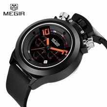 MEGIR Brand Chronograph Watch Men Watch Waterproof Chronograph Quartz Watch Military Watches Hour relogio masculino reloj hombre(China (Mainland))