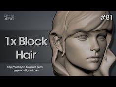 ▶ Zbrush Sculpting - 1x Blocking Hair - YouTube