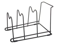 3 slot Pan Stand piatto Rack Pot Holder pentole Organizzatore