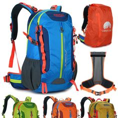 8da7fc9a1f Men women s Outdoor Waterproof 40L travel Sport Hiking Camping Backpack  nylon Travel Backpack
