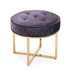 Tov Furniture Layla Ottoman Peacock
