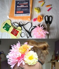 DIY big flower headband
