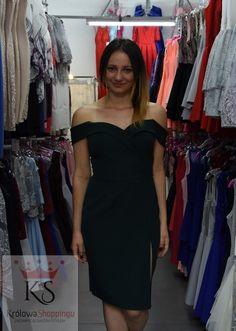 6719cab983 Sukienka na ramiączkach dopasowana krótka zielona - Królowa Shoppingu
