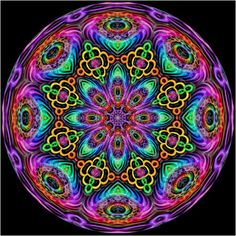 Rainbow Kaleidoscope Hippy Art by Kirsten Star