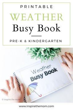 Printable weather busy book, great for preschool or kindergarten! #printable #weather #busy #book #preschool #kindergarten #print #weather #sun #rainy #stormy #puzzle #fine #motor #make #learn #kids #prek #fun #resource #temperature #terms #weather Weather Activities For Kids, Fun Indoor Activities, Activities For 2 Year Olds, Preschool Learning Activities, Toddler Activities, Science Experiments Kids, Science For Kids, Earth Science, Homeschool Preschool Curriculum