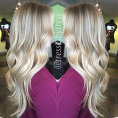 Blonde balayage highlights #platinum #babyblonde #balayage