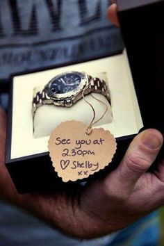 a gorgeous watch as a precious gift from the bride #amazing #gifts #surprise #man #wedding #day #WeddingDay