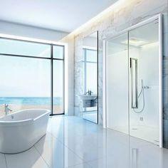 Buhar banyosu ile duş kombinasyonu Starpool SweetSteamSmart, teknolojisi ile banyoyu gerçek bir Spa'ya dönüştürür. İki farklı boyutta tasarlanan SweetSteamSmart, maksimum özelleştirme seçenekleri ile herhangi bir ortamdaki tasarım ve bileşenlere mükemmel bir şekilde uyum sağlar. Projenize özel çözümlerimiz hakkında bilgi almak için bize ulaşın: http://gultas.com/icerik_detay.php?id=48 #Gültaş #GultasGallery #Starpool #SPA #SweetSpa #Wellness