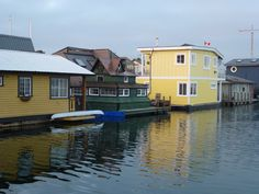 Floating homes in Victoria Harbour