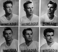 1958: Pen pics of the Hungary squad for the '58 World Cup finals.