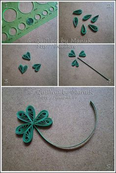 Quilled White Clover Leaf Tutorial