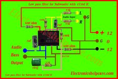 icu ~ Pin on ເຄື່ອງສຽງ ~ Dec 2018 - Low pass filter for Subwoofer with IC: Low pass filter. circuit diagram for the only bass used for Subwoofer.we makes Low pass filter for Subwoofer with IC. Electronics Projects, Simple Electronics, Electronics Basics, Electronic Circuit Projects, Electronics Components, Subwoofer Diy, Subwoofer Box Design, Car Audio Amplifier, Stereo Amplifier