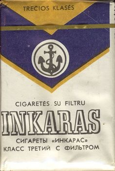 "<b>Inkaras Trecios Klases Cigarettes su filtru Сигареты ""Инкрас"" Класс третий с фильтром (design 1)</b><br><br><i>Sold in</i> USSR-Lithuania <br><i>Made in</i> USSR-Lithuania in 80's year <br><i>Producer</i>: Kova Tobacco Factory<br><i>Trade Mark Owner</i>: Kova Tobacco Factory<br><i>Size height/width/depth (mm)</i>: 78/54/19<br><i>Open type</i>: v<br><i>Previous owner</i>: Stepin Vleriy<br><i>Condition</i>: Full<br><b>DOUBLES AVALIABLE</b>: NO"