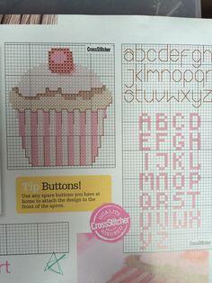 Cupcake free cross stitch