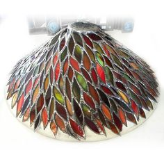 Handmade stained glass lampshade by Bath Aqua Glass