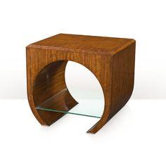 Table, Hyedua Veneer, Glass