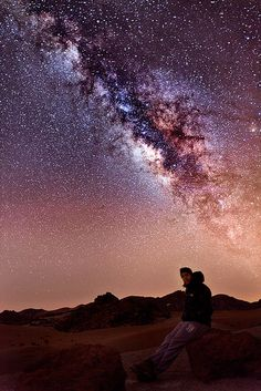 Unbelievable view. I never knew it was actually possible to see the Milky Way from earth. Gives me chills just looking at the picture. I would not be able to hold back the tears in my eyes if I was there to take in view in person. Possibly the most majestic view one could ever see.