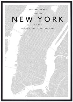 modern new york map simplified monochromatic monotone minimalist contemporary architecture interior designers cities custom solution print office home work space