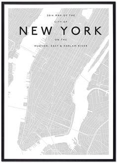 majestymaps-new-york-black-framed