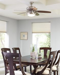 "the unique curved blades of the modern 56"" avvo ceiling fan"