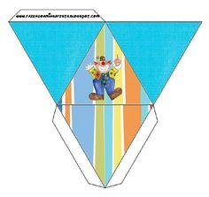 Cajita pirámide–payaso