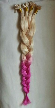 Ombre U tip hair extensions