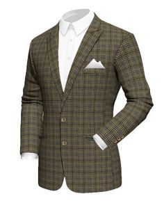 Brown checked tweed Blazer http://www.tailor4less.com/en-us/men/blazers/1886-brown-checked-tweed-blazer
