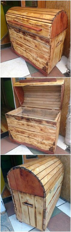 How lovely! This wood pallet storage box design is so incredible looking with the great sum of the sophistication being the part of it. As comprised with the setting of few pallet plank slats, this storage box design form of working is magnificent looking as overall. Did you find it interesting?