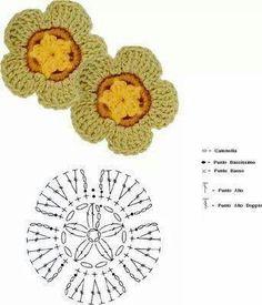Pattern flower crochet