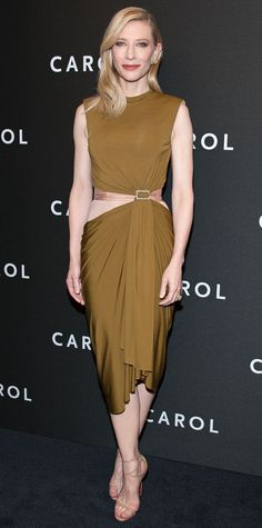 Isn't this an elegant dress? Look of the Day - Cate Blanchett  - from InStyle.com
