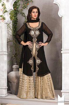 Black #Pakistani #Sharara Suit