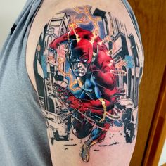 The Flash tattoo by Mark Duhan