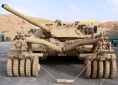M1A2 Abrams equipped with mine roller