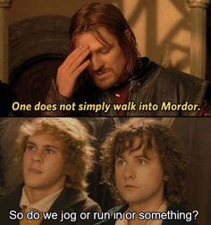 Dank Herr der Ringe Memes - Lord of the Rings - Humor 9gag Funny, Hilarious, Memes Humor, Funny Memes, Earth Memes, One Does Not Simply, J. R. R. Tolkien, Into The West, Thranduil